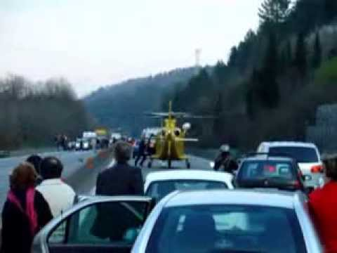 Preview video Incidente stradale con intervento elisoccorso