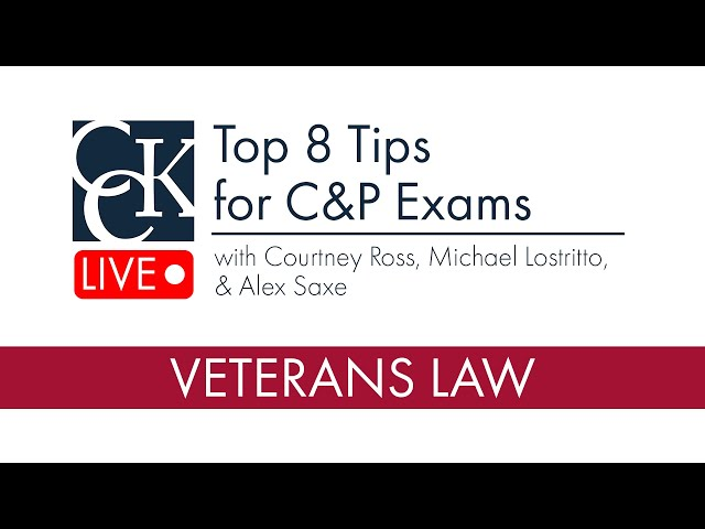 Top 8 Tips for C&P Exams