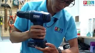 Unboxing FERM PowerTools Model CDM1122P (Cordless Drill)