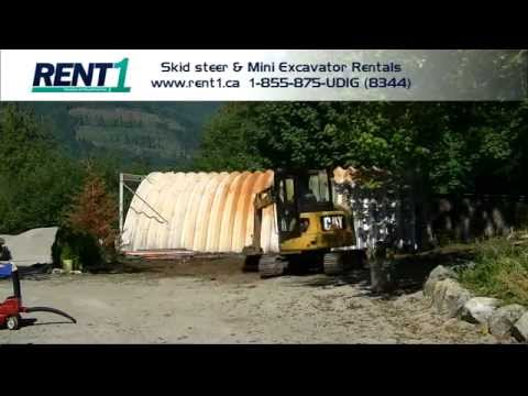 Timelpase video - Land clearing and driveway grading with a