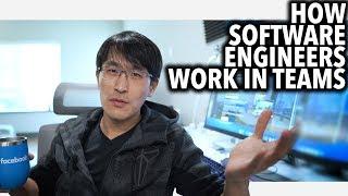 How software engineers work in teams (UI Designers, Product Managers, software engineers, etc.,)
