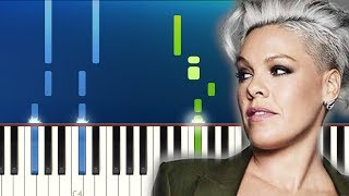 P!nk - Walk Me Home (Piano Tutorial)