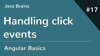 Angular 6 Basics 17 - Handling click events