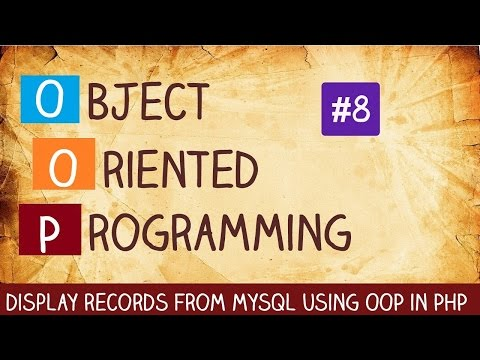 display record from mysql using OOP in PHP