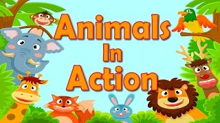 Animals In Action | Brain & Body Builders | Exercise & Fitness for Kids | Jack Hartmann