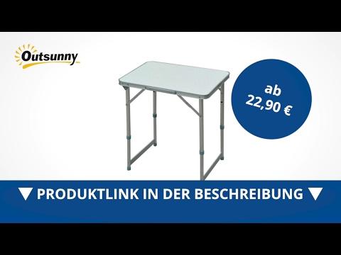 Outsunny Alu Campingtisch Klapptisch Koffertisch hähenverstellbar - direkt kaufen!