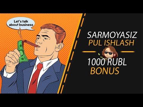 SARMOYASIZ AVTOMATIK PUL ISHLASH/1000 RUBL BONUS