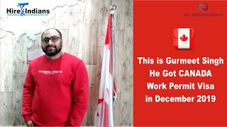 Another Success story of our client Gurmeet Singh who got his work permit for Canada. All the best