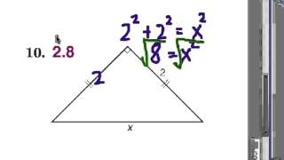 Using Pythagorean Theorem: Missing Sides Of Right Triangles