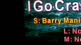 I go crazy by: barry manilow (my cover)