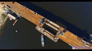 Аэросъемка Дубна с квадрокоптера. Мост.