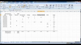 How to Create a Petty Cash Account using Excel - Part 1