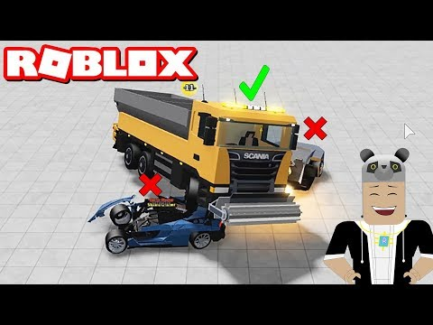 Dev Kamyon mu Küçük Arabalar mı? Araba Kapışması Oynuyoruz - Panda ile Roblox Car Crushers 2