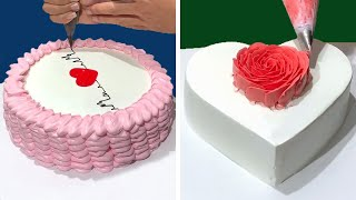 Amazing Heart Cake Decorating Tutorial For Valentines   Most Satisfying Chocolate Cake   So Easy