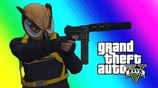GTA 5 Online Funny Moments - Bat Owl and the Superhero Squad!
