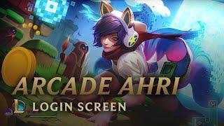 Bit Rush: Arcade Ahri | Login Screen - League of Legends