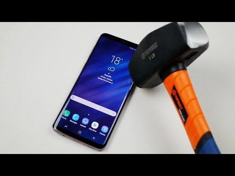 Samsung Galaxy S9 Plus Hammer & Knife Scratch Test