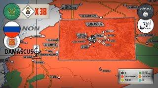 14 мая 2018. Военная обстановка в Сирии. Военная полиция РФ вошла в бывшие районы боевиков в Дамаске