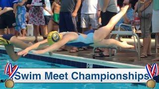 Swim Meet Championships   Katie Sets A Swim Record  Flippin' Katie