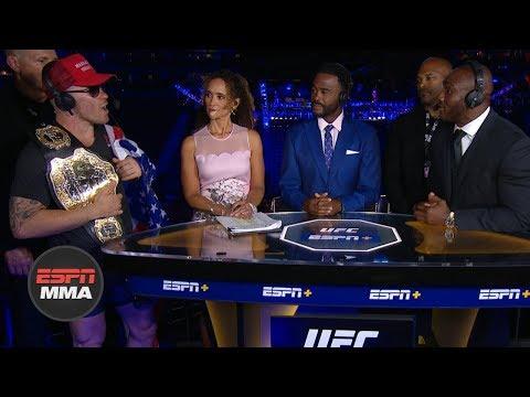 Colby Covington, Kamaru Usman get heated during UFC Fight Night Post Show | ESPN MMA