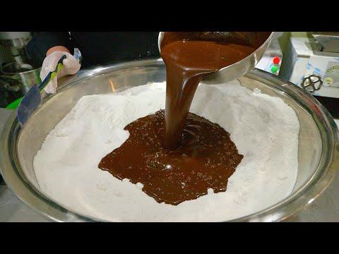국내유일 특허받은 쫀득한 초코설기 / chocolate rice cake made in the traditional korean way – tteok