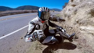 Yamaha R1 Lowside Crash