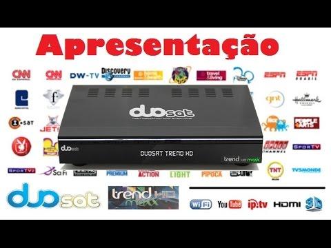 Receptor de Canais Duosat Trend Maxx Hd, IPTV, 3d, Iks, Sks, Sat / Apresentação