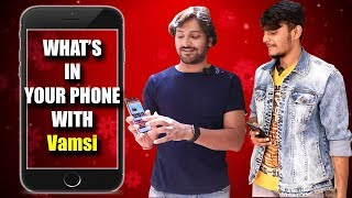 What's In Your Phone with Ninnu Thalachi Movie Hero Vamsi | #ninnuthalachi | Y5 Tv