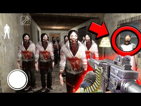 How to Defeat the Jeff the Killer ARMY in Granny Horror Game... (Jeff Clones vs Granny) (видео)