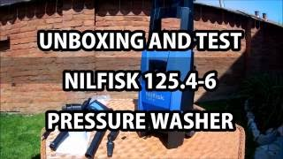 Unboxing and test Nilfisk C 125.4-6 pressure washer