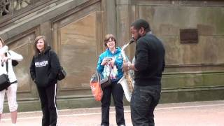 This awesome Saxophone player Rakiem Walker at Centeral Park NewYork