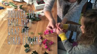 DIY MOM: How To  Make FLOWER CROWNS - With Your Toddler
