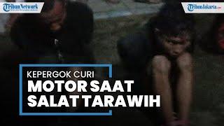 Maling Motor di Ciputat Timur Beraksi Dekat Musala, Jemaah Tarawih Berhamburan dan Tangkap Pelaku