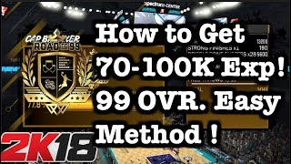 NBA 2K18 How to get 99 OVERALL FAST ! 2K18 MyCareer Alley oop Tutorial 2k18 99 OVERALL tips #44