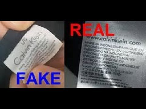 Real vs. fake Calvn Klein T-shirt. How to spot fake Calvin Klein
