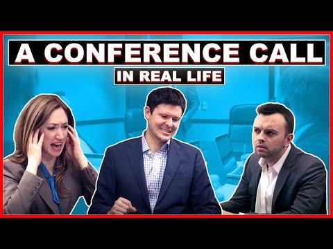 Konference po telefonu v reálném životě
