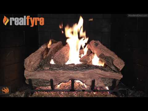 Real Fyre Red Oak Vented Gas Log Set