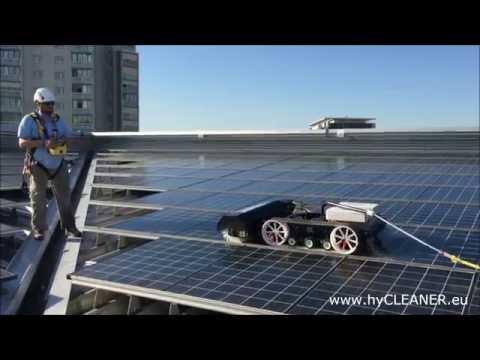 Solar- und Glasdachreinigung mit hyCLEANER® black SOLAR – eine Maschine viele Anwendungen