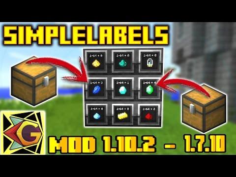 SimpleLabels| Cofre Con más Espacio | Para Minecraft 1.10.2 – 1.7.10 | Mod Review En Español