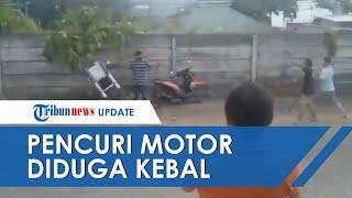 Viral Video Pencuri Motor Diduga Miliki Ilmu Kebal, Terlihat Santai saat Dipukul Warga