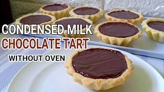 Condensed Milk Chocolate Tart Without Oven L No Bake Condensed Milk Tart