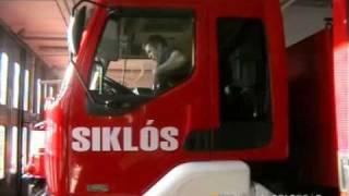 preview picture of video 'Tűzoltók riasztása, vonulás Siklóson'
