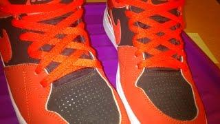Как красиво завязывать шнурки на кроссовках nike