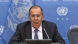 Выступление С.В.Лаврова на пресс-конференции по итогам 73-й сессии ГА ООН