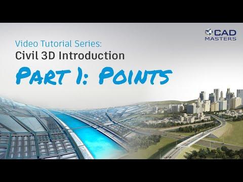 Civil 3D Tutorial 1: Points - YouTube