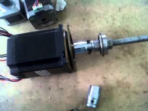 Acoples caseros para motor paso a paso en CNC