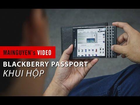 Đập hộp siêu phẩm Blackberry Passport, đối thủ của iPhone 6 tại Việt Nam