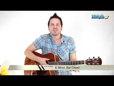 How to Play an E Minor (Em) Bar Chord on Guitar (7th Fret)