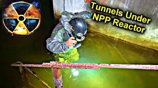 ☢️Going to the Chernobyl Reactor Tunnels / Busted by Security @SuperSus almost drown
