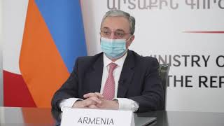 "Message by the Foreign Minister Zohrab Mnatsakanyan at the virtual Ministerial of the Alliance for Multilateralism ""Strengthening the multilateral health architecture: Combating infodemics"""